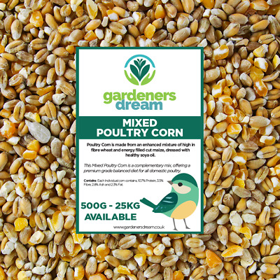 GardenersDream Mixed Poultry Corn - Deluxe Feed For Chicken Geese Duck Seed Food