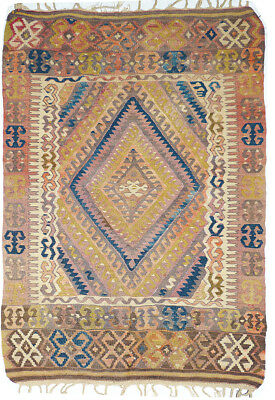 Kilim Turc Traditionnel Oriental hand made  112 cm x 75 cm  N° 164
