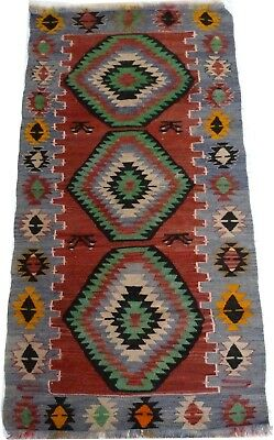 Kilim Turc Traditionnel Oriental hand made  146 cm x 73 cm  N° 182