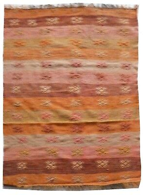 kilim Turc Traditionnel Oriental hand made fait main 124 cm x 83 cm  N° 197