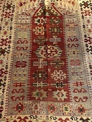 kilim Turc Traditionnel Oriental hand made 147 cm x112 cm  N° 107