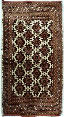 Tapis Persan Traditionnel Oriental hand made 100 cm x 50 cm  N° 55