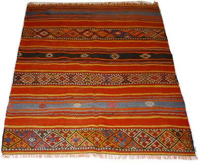 Kilim Turc Traditionnel Oriental hand made  fait main  143 cm x 120 cm  N° 159