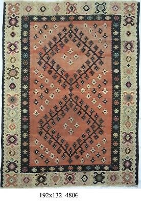 kilim Turc Traditionnel Oriental hand made 192 cm x132 cm  N° 121
