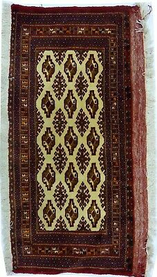 Tapis Persan Traditionnel Oriental hand made 92 cm x45 cm  N° 77