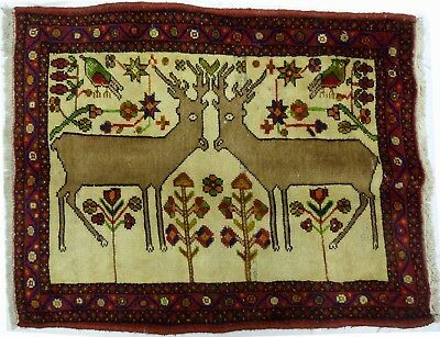 Tapis Persan Traditionnel Oriental hand made 66 cm x 85 cm  N° 64