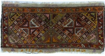 Tapis Persan Traditionnel Oriental hand made 110 cm x 43 cm  N° 66