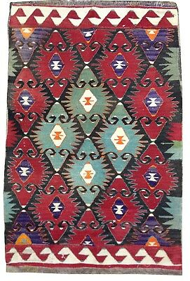 kilim Turc Traditionnel Oriental hand made 130 cm x80 cm  N° 106
