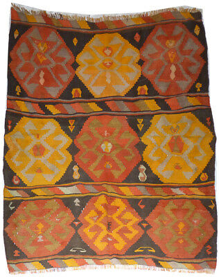 Kilim Turc Traditionnel Oriental hand made  148 cm x 141 cm  N° 163