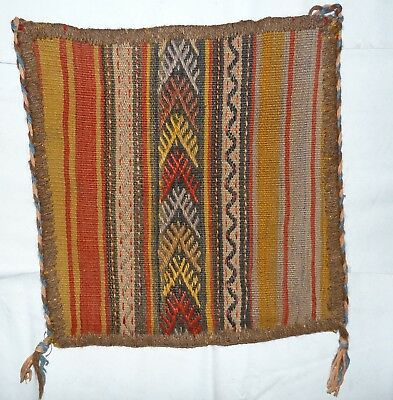 kilim Turc Traditionnel Oriental hand made 38 cm x38 cm  N° 128-A