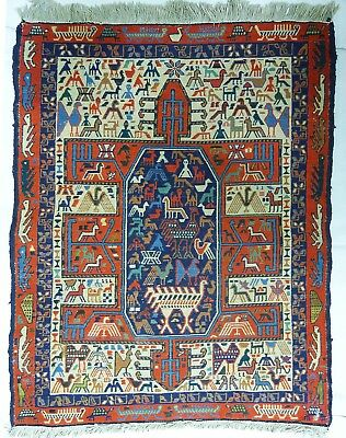 kilim Turc Traditionnel Oriental hand made 87cm x68 cm  N° 116