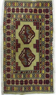 Tapis Persan Traditionnel Oriental hand made 85 cm x45 cm  N° 75