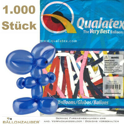 1000 Modellierballons Q260 Traditional Assortment bunt Ø5cm Länge 150cm 60inch
