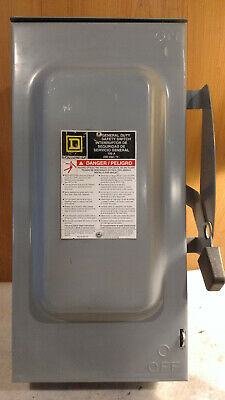 Square D D323NRB NEMA 3R Rainproof 100A 240VAC Fused Safety Switch w/100A Fuses