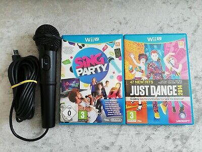 Sing Party (Nintendo Wii U) Karaoke Game with Microphone plus Just Dance 2014