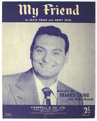 my Friend, Frankie Laine, Song, Sheet Music - UK Shilling