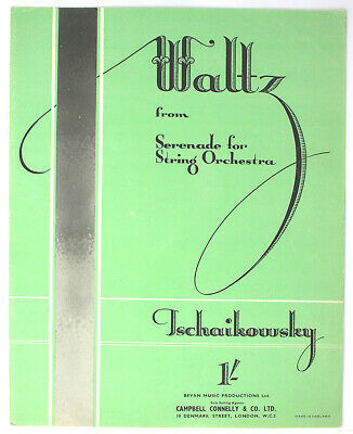 Waltz from the Serenade for Strig Orchestra, PIANO SOLO - UK Shilling