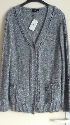 Cardigan long ONE STEP gris perle. Taiile L 40/42  Neuf + étiquette