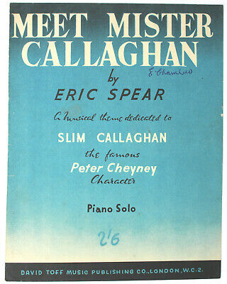 Meet Mister Callaghan, PIANO SOLO - UK Shilling