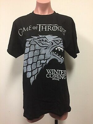 Game of Thrones Winter Is Coming Stark Med T-Shirt BNWT **FREE SHIPPING!!**