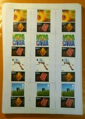 50 2nd Class Large Letter 83p Genuine New Mint Stamps On Self Adhesive Labels