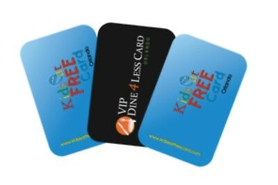 2 Kids Eat Free Orlando Cards PLUS 1 Shop & Dine 4Less Card ~ Holiday / Vacation