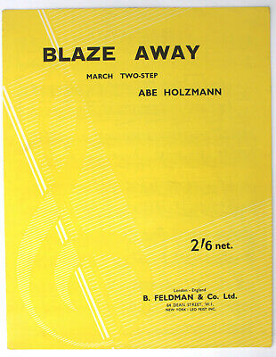 Blaze Away, March Two-Step, Holzmann, PIANO SOLO, Sheet Music - UK Shilling
