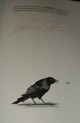 Signed Limited 1st of Blood Red Earthling Halloween Series Book #1 by Moore