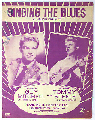 Singing The Blues, Guy Mitchell, Tommy Steele, Song, Sheet Music - UK Shilling