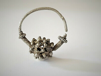 Medieval Byzantine Silver Earring 9-11 Ad