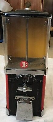 UnRestored Victor 1 Cent Topper Half Cabinet Gumball Machine