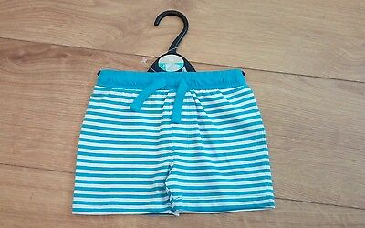 New baby blue and white striped shorts age up to 3 months 56/62cm