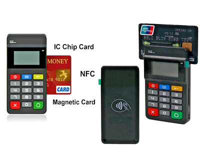 MPOS Mobile Payment Terminal Magnetic Card NFC IC Chip Card Reader Keypad POS