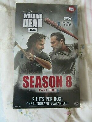 TOPPS, The Walking Dead, Season 8, Trading Cards Sealed Box, 2 Hits, 1 Autograph