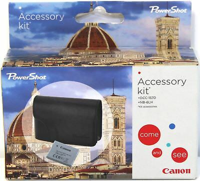 Canon Powershot Camera Accessory Kit Case Replacement Battery RRP £49.99