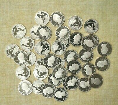 Roll Of 40 2019-S National Park Clad Proof Quarters - Atb - War In The Pacific