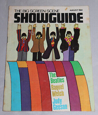 The Beatles Yellow Submarine Big Screen Showguide August 1968 Great Condition