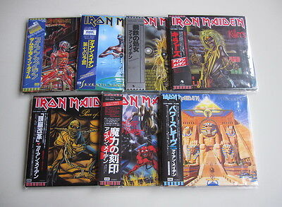 Iron Maiden 7Cd Set Mini Lp Powerslave Piece Of Mind Killers Seventh Son...