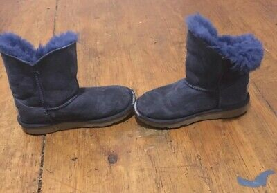 6f82378a249 UGG KIDS GIRLS Youth Kids SZ 13 Royal Blue Winter Sheepskin Boots Pre Own  Used