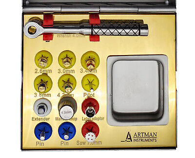 Bone expander kit for Dental Implantologists, bone spreading, sinus lift BY ARTM