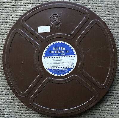 """Goldberg Bros 16mm 1600ft Metal Film Reel & Can / Empty 13.75"""" Reel with Can"""