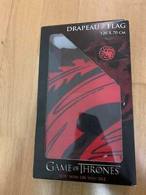 Game of Thrones Flagge House Targaryen, schwarz/ rot