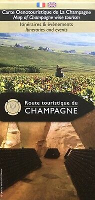 CHAMPAGNE Tourist  Map for Wine Tourism - Free UK Postage