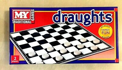 Draughts Large Traditional Classic Family Fun Games Very Fun For Family & Kids