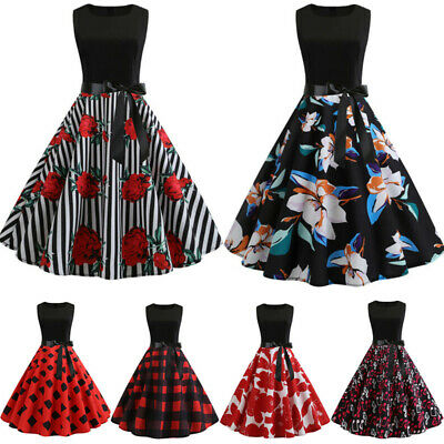 PLUS SIZE WOMENS 50s 60s Vintage Polka Dots Rockabilly ...