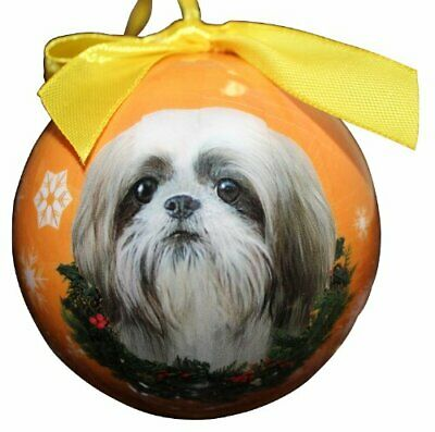 Shih Tzu Christmas Ornament Shatter Proof Ball Easy To Personalize