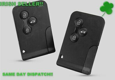 Renault key fits Clio Megane Scenic Grand Scenic 3 Button Key Card Shell Case