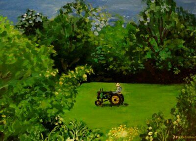 Landscape Painting ART PRINT,rural NY State scene,pastoral countryscape,wall art