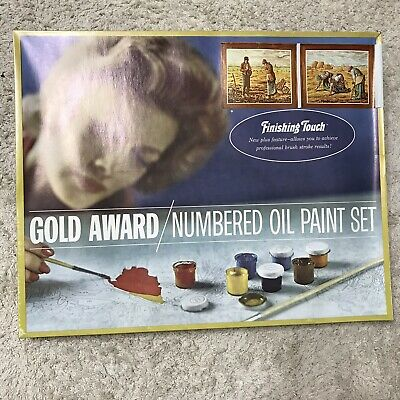 """NEW Gold Award Numbered Oil Paint Set """"The Bountiful Land"""" Finishing Touch"""