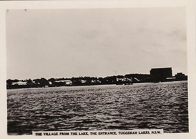Vintage Photograph - The Village from the Lake  The Entrance Tuggerah Lakes NSW